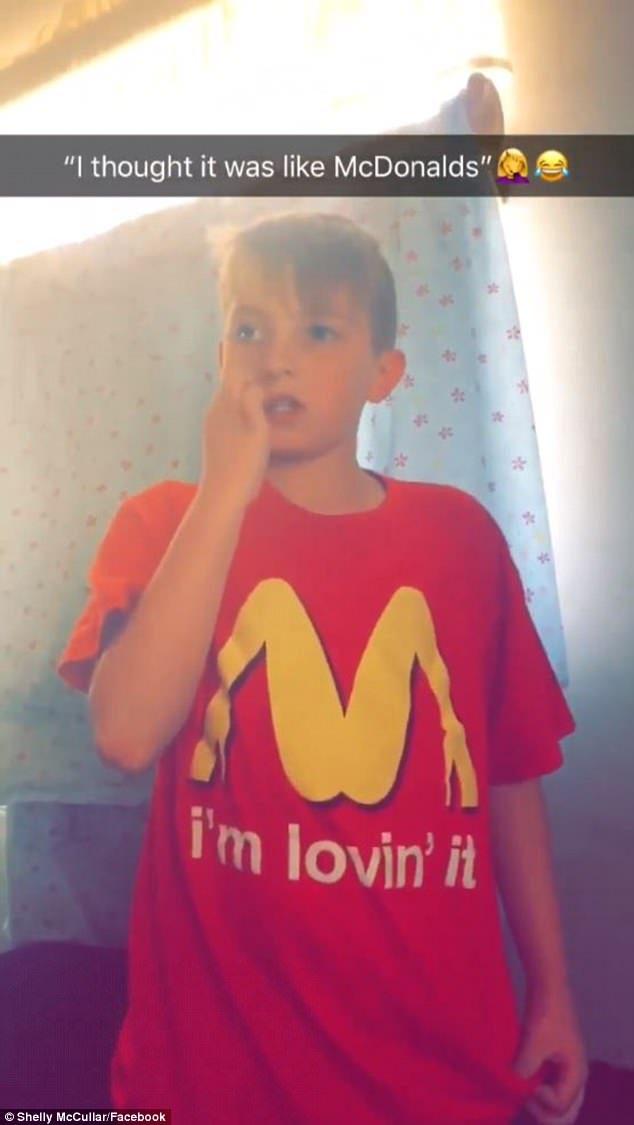 兒子穿「麥當勞Logo上衣」去學校,回家後老媽驚覺「事情大條了」打到學校猛道歉...網友笑:這才是大人的世界!
