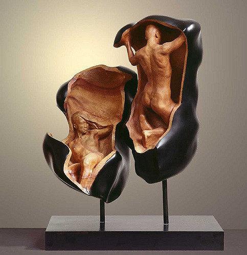 【第二彈】台灣藝術家創作超獨特「畫素有問題」木雕紅到國外,更多「超現實人體雕塑」會讓你懷疑自己的眼睛!(25張)
