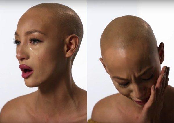 《名模生死鬥》女模鏡頭前摘下假髮「秀最真實裸露模樣」!她痛哭:終於可以展現真實的自我 (影片)
