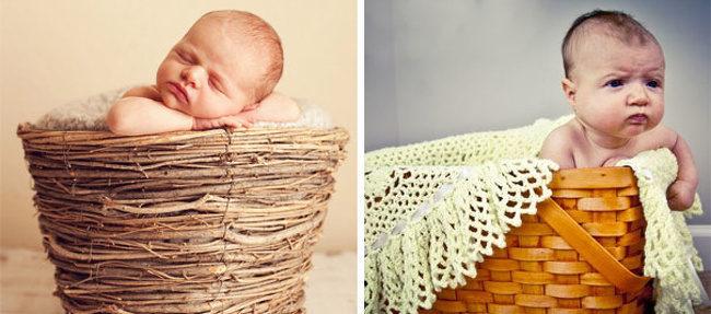 19張拍張照根本要他命的「理想VS現實」爆笑寶寶寫真