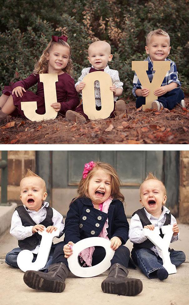 19張對鏡頭過敏的「理想VS現實」爆笑寶寶寫真