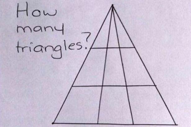 看似簡單的「三角形有幾個」數學題 開始數後才發現:怎麼每次數都不太一樣?