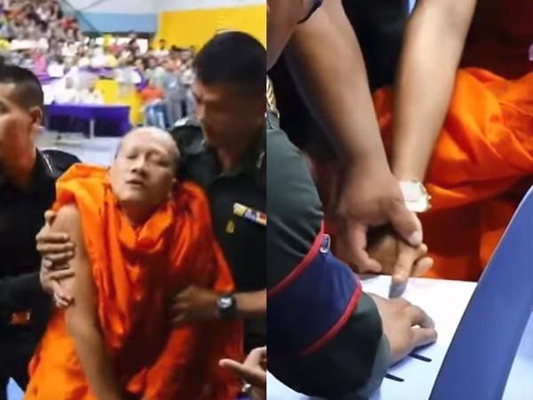 泰僧侶抽中「紅色兵籤」當場崩潰,腿軟暈倒被拖走「不忘先畫押確認」網笑翻!(影片)