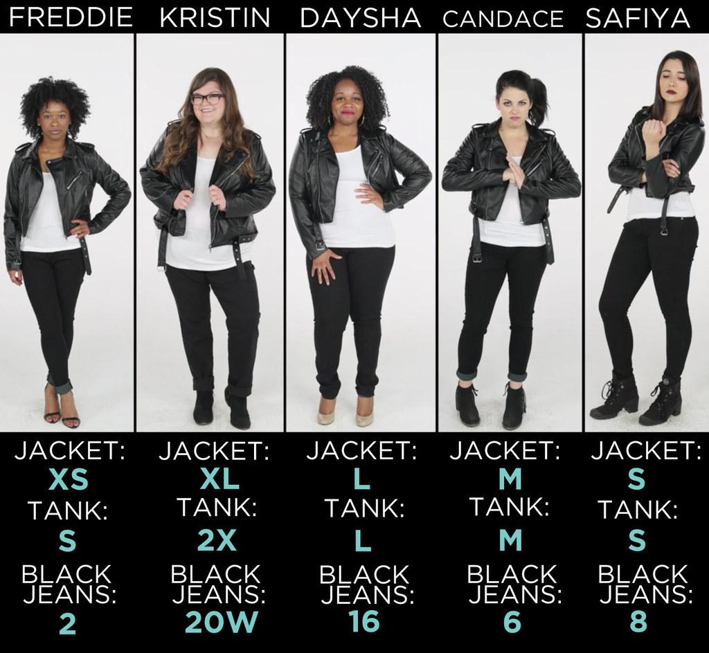 「S到XL女」試穿同一件衣服 結果證明「沒有不適合的衣服,只是不會搭」