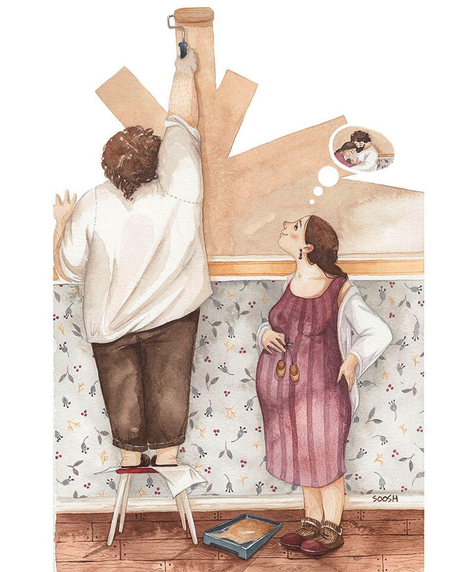 20張證明「家人的愛是最偉大」的最暖親情插畫
