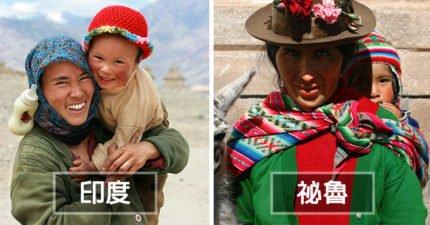 攝影師花10年旅遊 拍下世界各地「母親與孩子暖畫面」