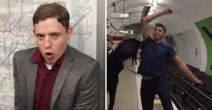 2男子「用嘴巴打乒乓球」 嘟嘴畫面讓乘客全想歪!