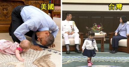 有這麼嚴重?歐巴馬陪小孩白宮玩到失控 台灣2歲女「總統府亂跑」被罵沒家教!
