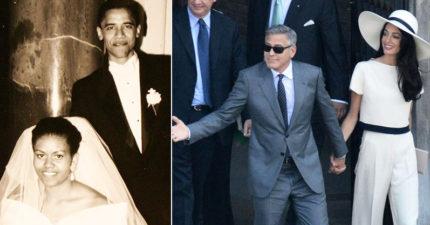 20張經典名人結婚照 奧黛莉赫本「一人婚禮」成最大亮點
