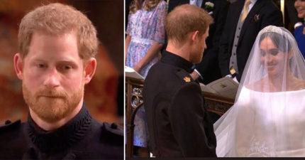 王子在紅毯看到新娘的第一句話 讓網友心都融化了