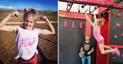 1歲半就會跑酷!10歲筋肉蘿莉「瘋狂忍者訓練」 單臂引體向上輕鬆破表