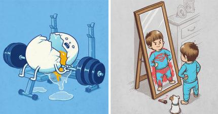 27張台灣藝術家創作的「小黑暗搞怪插畫」帶你進入腦洞的世界!
