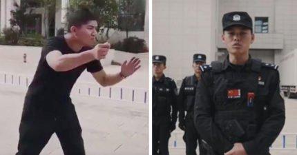 中國警察教你「如何對付持刀歹徒」 8秒神招保證活命!
