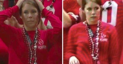 球賽被拍到「一臉超尷尬」 鍵盤柯南網友:男友該哭,絕對是抓到了