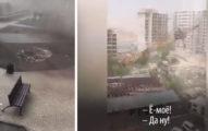 神秘颶風掃過哈薩克 末日場景「摔爛吊車」...網哭:索爾要來了啦!