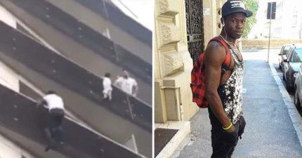 現實中的蜘蛛人!男童掛4樓欲墜 勇男「30秒徒手爬上」救他!(影片)