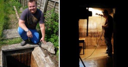 男子在自家後院發現神秘通道 一挖開意外「回到過去」