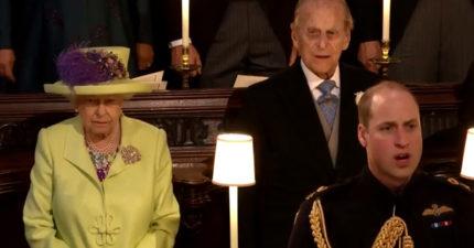 皇室乖孫結婚全場唱國歌 英女王一臉傲嬌:平民們唱來我聽聽