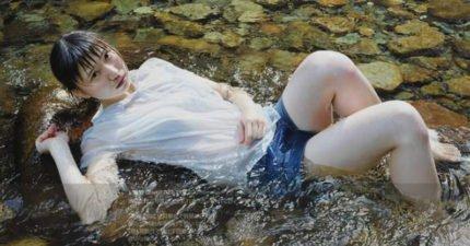 這名「衣服濕透正妹」網路瘋傳 但他卻抱怨:都被當成照片忽略了