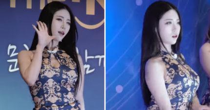 韓女團裙子短到像沒穿 性感熱舞「白底駱駝蹄」深凹再現