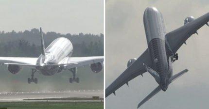 比雲霄飛車更刺激!飛機展示「近乎垂直起飛」讓你快速離開地球表面