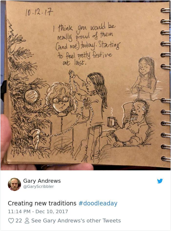 前迪士尼動畫師痛失愛妻...他用插畫記錄「4 1生活」讓網淚崩