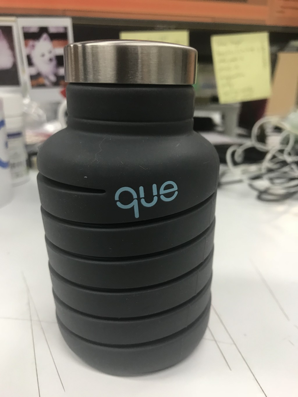 「伸縮自如的環保水壺」軟Q摔不壞 可以直接塞口袋!