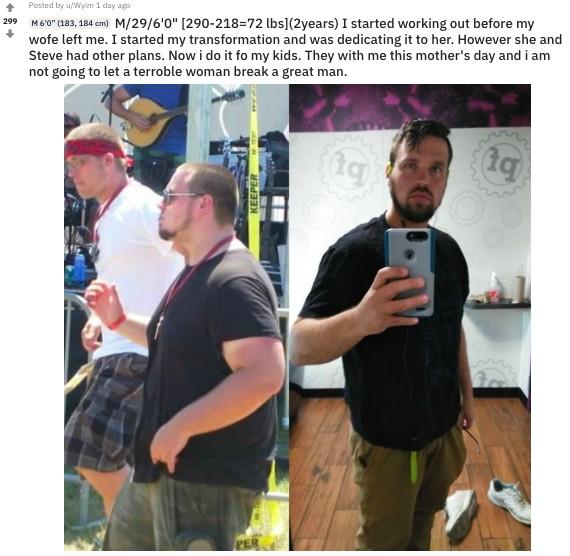 136KG胖夫遭妻戴綠帽 奮發「減肥變型男」讓妻子後悔