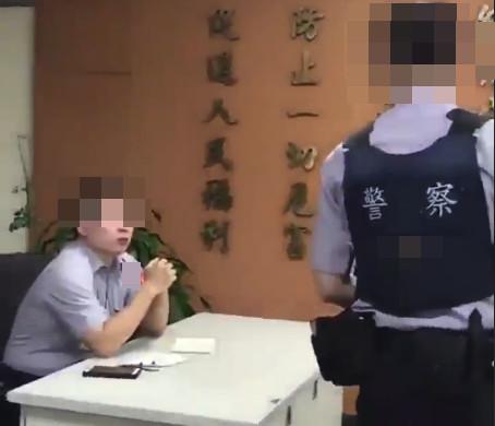 逼菜鳥警「吃案」影片曝光!副所長嗆:我是在教你做人