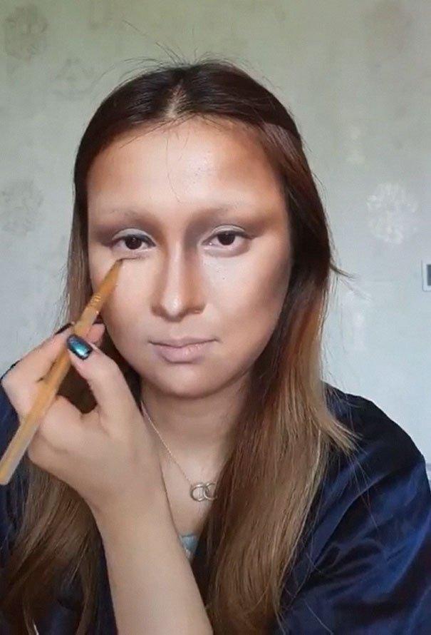 超強化妝師只用26秒 直接讓「蒙娜麗莎」穿梭到2018年!
