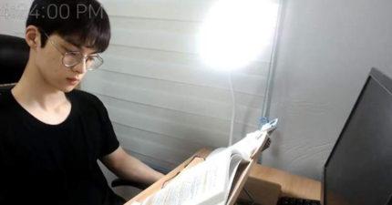 整整6小時讀書給你看!南韓帥歐巴「不說話專心啃書」吸20萬人觀看
