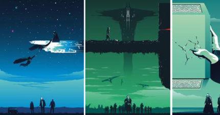 藝術家設計「可組合的超級英雄海報」 三張組成一起後超有意義!