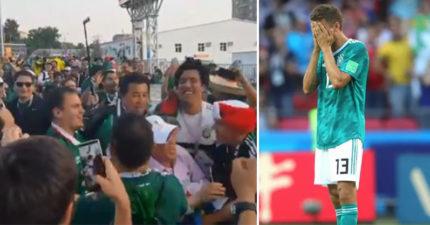 影/南韓爆冷門2:0擊敗德國 墨西哥球迷「秒變韓粉」:KOREA!KOREA!