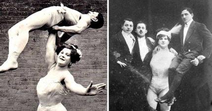 19世紀女大力士「一次舉3個男人」 用力秀肌肉跟PS過的一樣