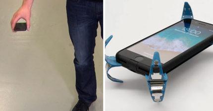 怎摔都OK!「手機安全氣囊」落地瞬間變咖啡桌 不用再擔心螢幕摔破啦