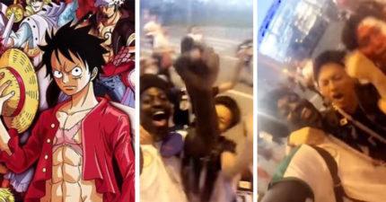 世足/以球會友!日塞球迷搭肩合唱「航海王主題曲」 證明動漫無界限啊♥