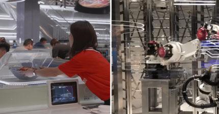 馬雲人生起飛!首創「機器人餐廳」 機器人八爪臂點餐+送菜取代人類