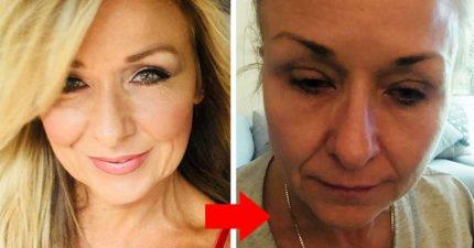 女子25年來「從沒卸眼妝」 翻開眼皮才發現來不及了!