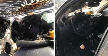 他車上放「兩瓶水」竟釀災 儀表板大火延燒整台車成廢鐵