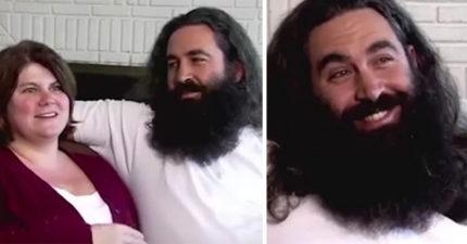 12年鬍子掰掰~穴居人男友鬍子刮清光 全新模樣帥到女友:你哪位?