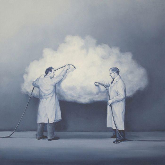 艺术家把「人类的丑陋面」绘成深度讽刺画作 北极熊VS黄色小鸭 -5b2227e1ecb73