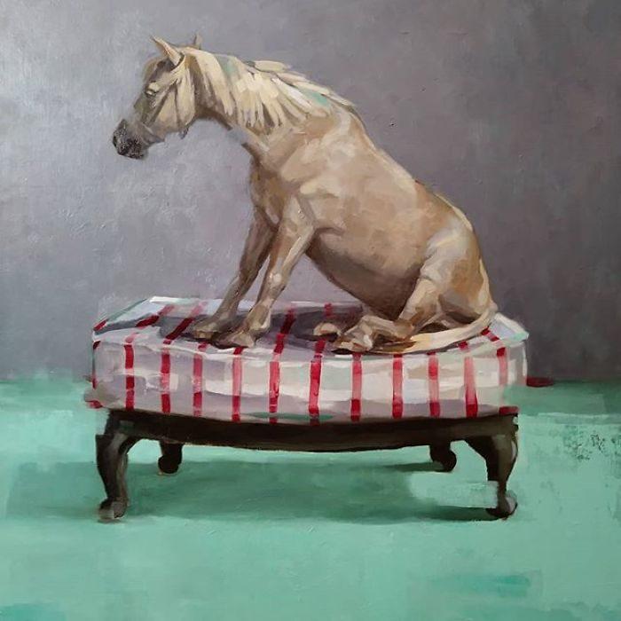 藝術家把「人類的醜陋面」繪成深度諷刺畫作 北極熊VS黃色小鴨