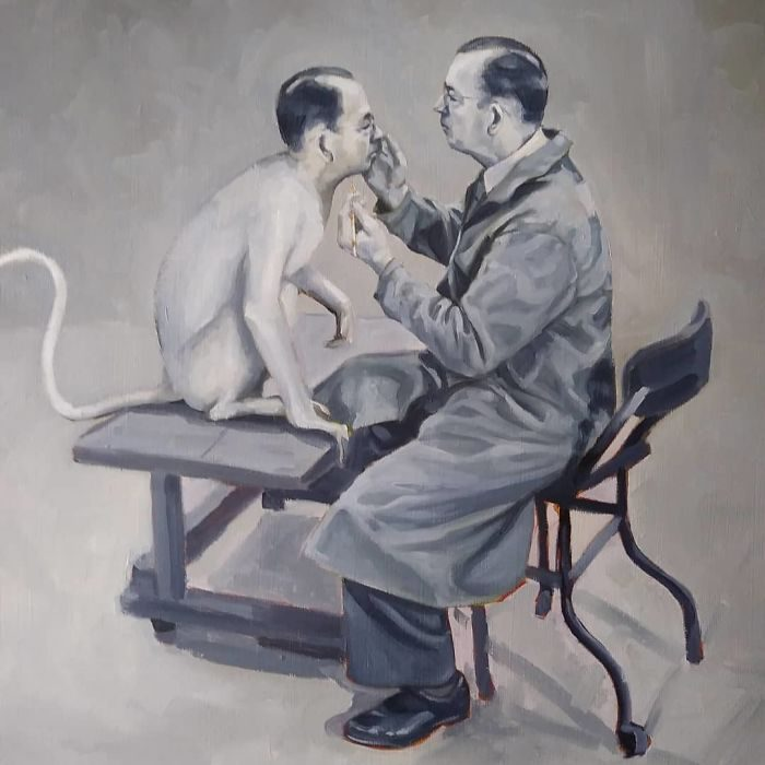 艺术家把「人类的丑陋面」绘成深度讽刺画作 北极熊VS黄色小鸭 -5b2227f35b7e6