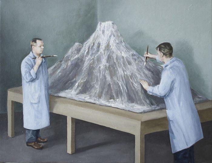 艺术家把「人类的丑陋面」绘成深度讽刺画作 北极熊VS黄色小鸭 -5b2227f7c8276