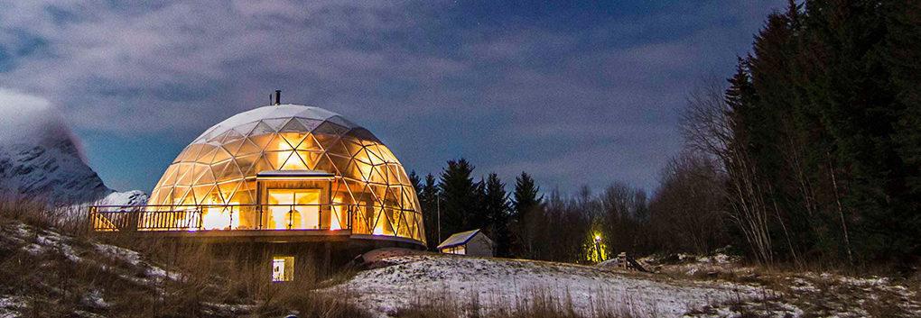 挪威超美穹頂玻璃屋 「春夏秋冬都超美」整個屋子連食物都能自己種!