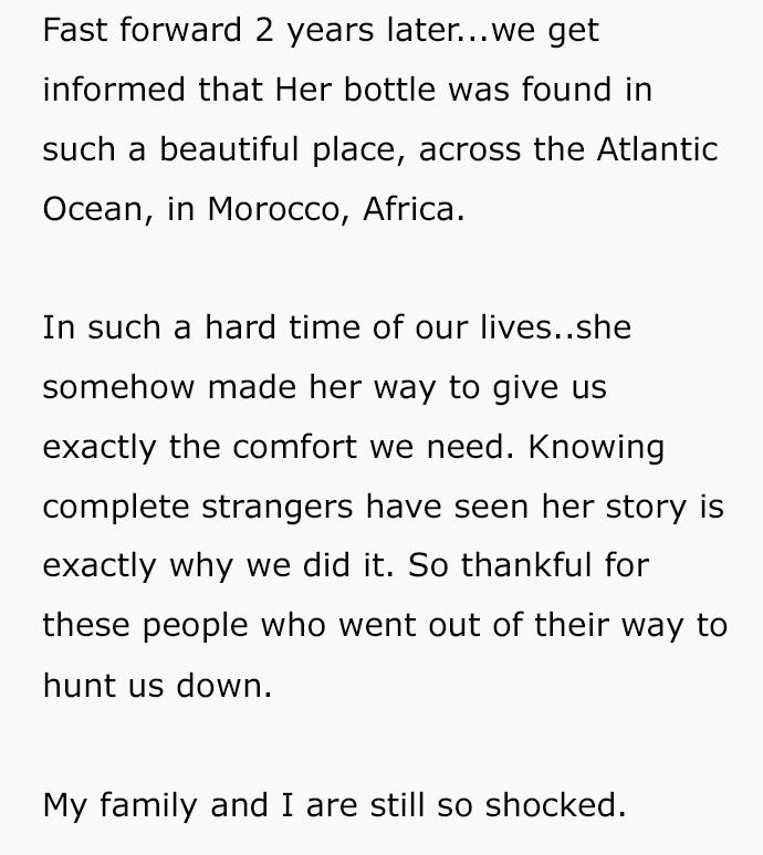 兄妹紀念過世母「把照片裝進瓶中信」 2年後從遙遠的美麗國家收到回信!