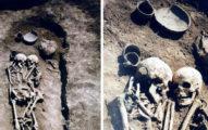 人妻自願生葬活埋 「環抱亡夫雙額緊貼」考古學家挖開:3000年最催淚!