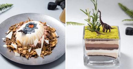 侏儸紀世界咖啡廳超逼真恐龍餐點 「小藍造型蛋糕」讓你捨不得吃!