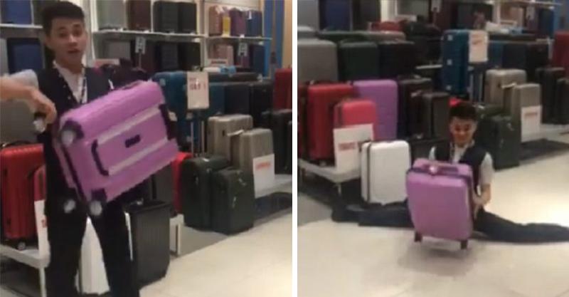 忍不住掏出鈔票...菲律賓超另類行李箱推銷員 話講到一半直接劈腿