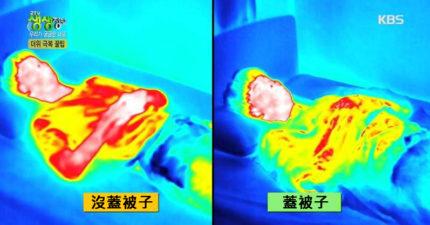 夏天睡覺不蓋被子?「熱像儀實測畫面」打破你的迷思!